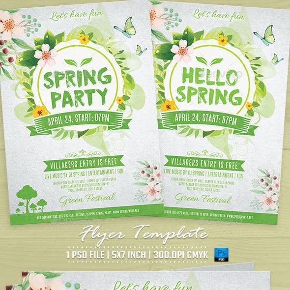 Spring Party Flyer Template v2