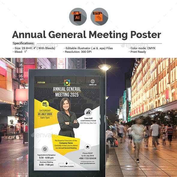 Annual General Meeting Poster Template