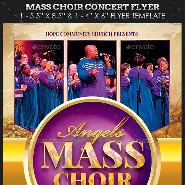 Mass Choir Concert Flyer Template