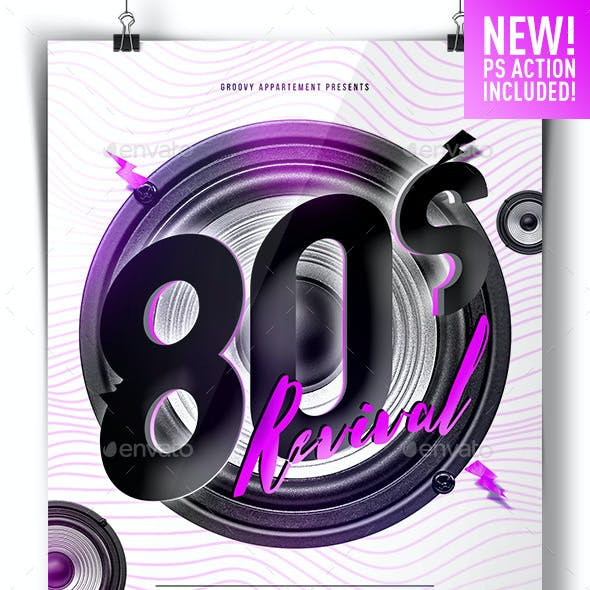 80s Revival Flyer Template + GIF Action