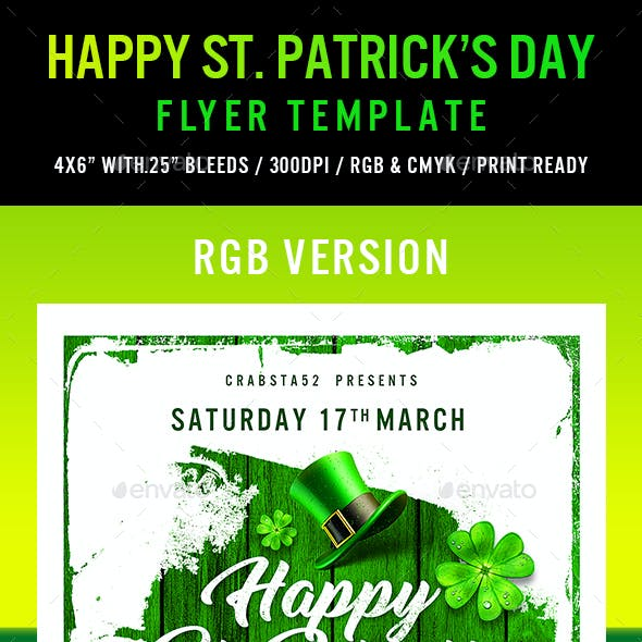 Happy St. Patrick's Day Flyer Template