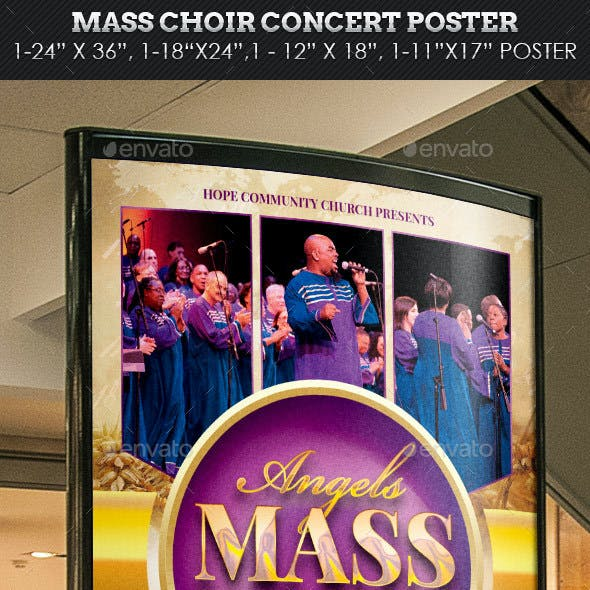Mass Choir Concert Poster Template