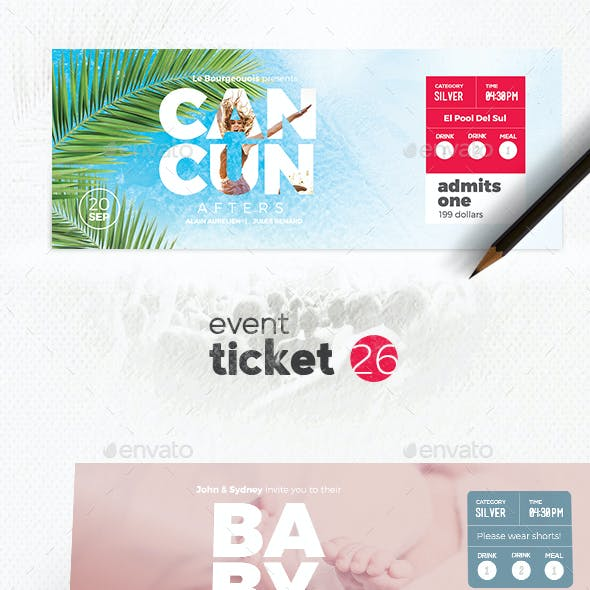 Event Ticket Template 26