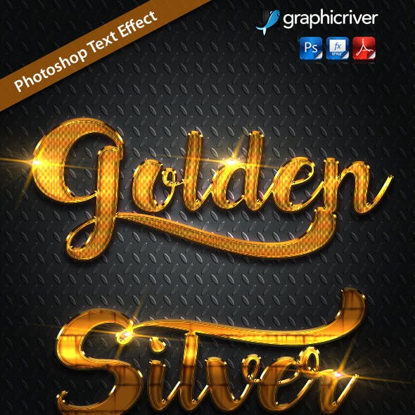 12 Gold Metal Photoshop Vol 3