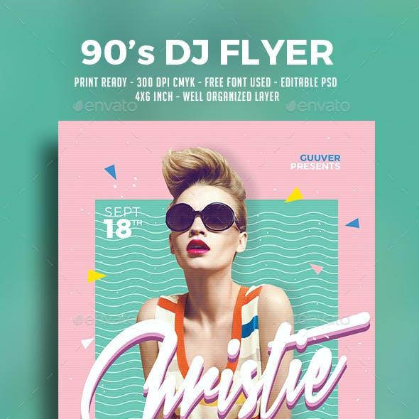 90's DJ Flyer