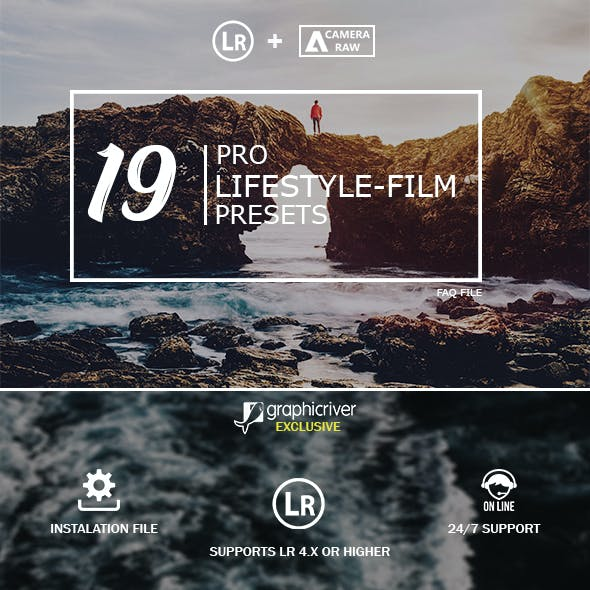 19 Lifestyle Film Lightroom Presets & Camera Raw