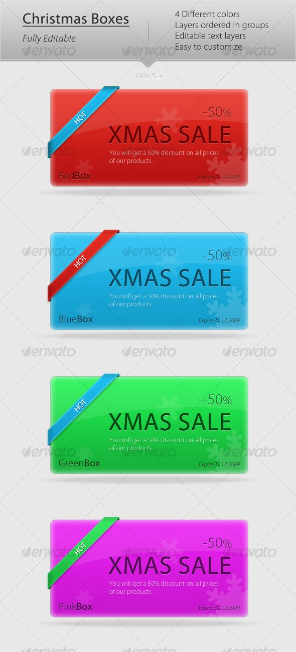 Christmas Boxes - Web Elements