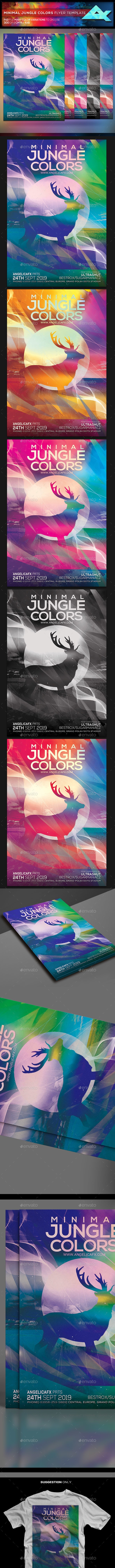 Minimal Jungle Colors Flyer Template - Events Flyers