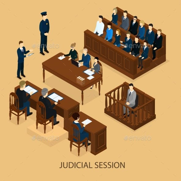 Isometric Court Session Template