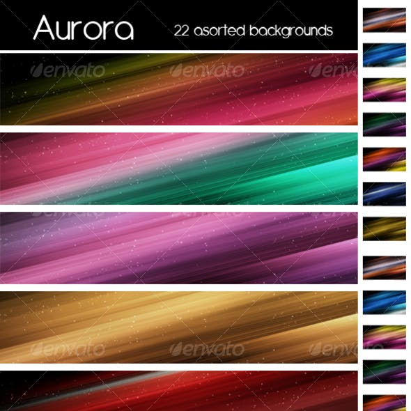 Aurora colorfull background