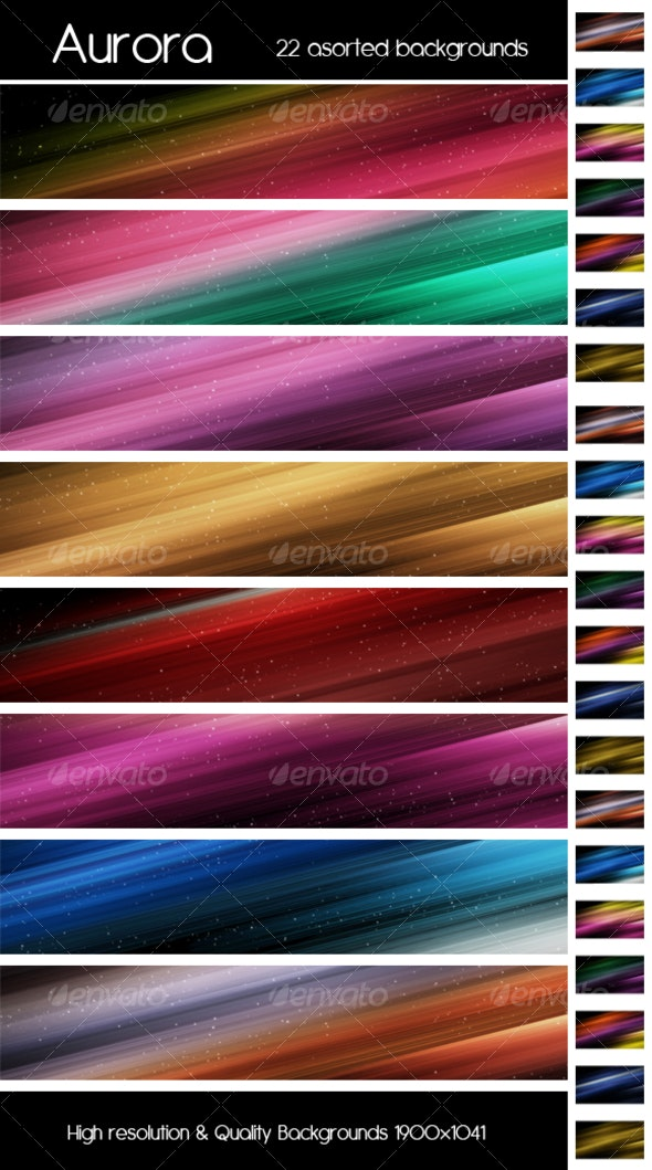 Aurora colorfull background - Backgrounds Graphics