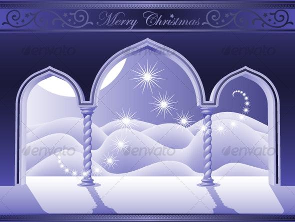 Heavens Door of Christmas - Backgrounds Decorative