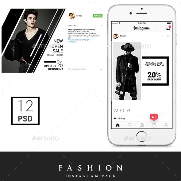 Promotional Instagram Fashion Pack