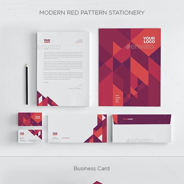 Modern Red Pattern Stationery