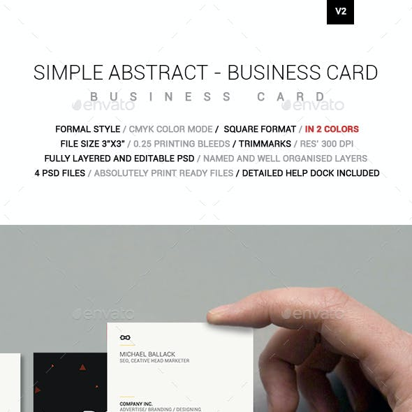 Simple Absract Square Business Card