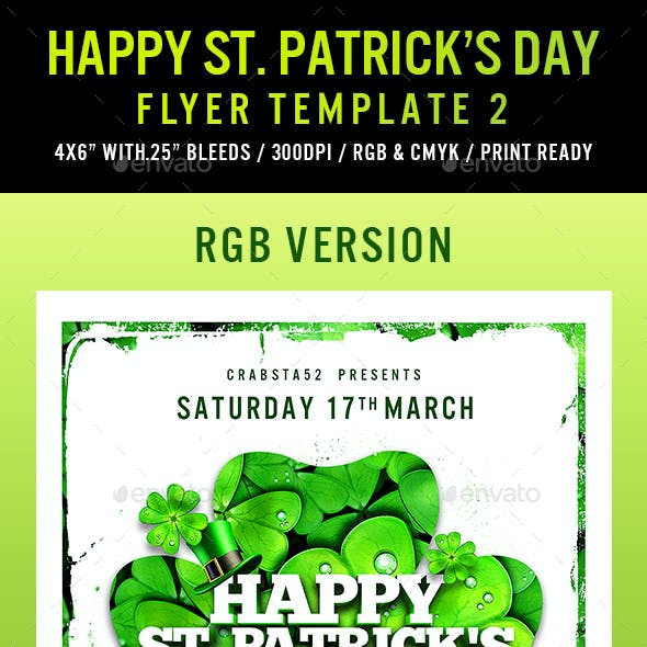 Happy St. Patrick's Day Flyer Template 2