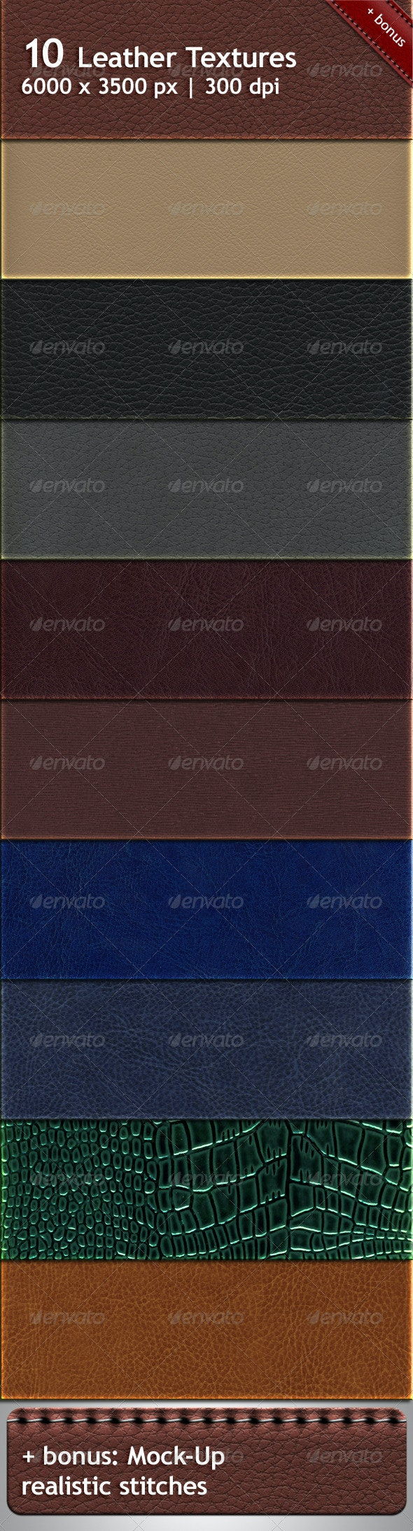 10 Lether Textures - Fabric Textures
