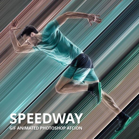 Speedway Gif Animated Photoshop Action