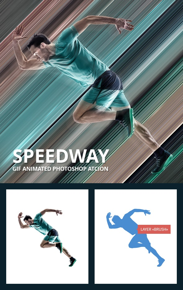 Speedway Gif Animated Photoshop Action - Photo Effects Actions