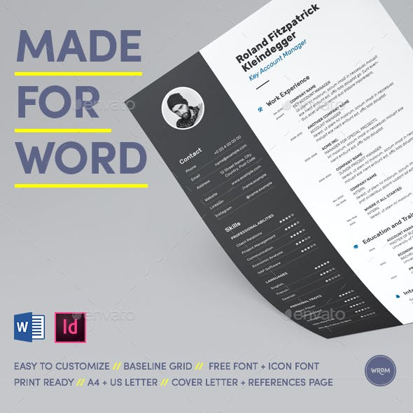Bold Resume Made for Word