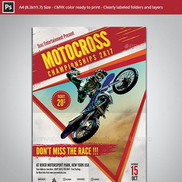 Motocross Championships Flyer Template