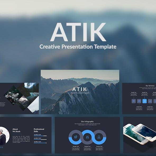 Atik - Creative Google Slide Template