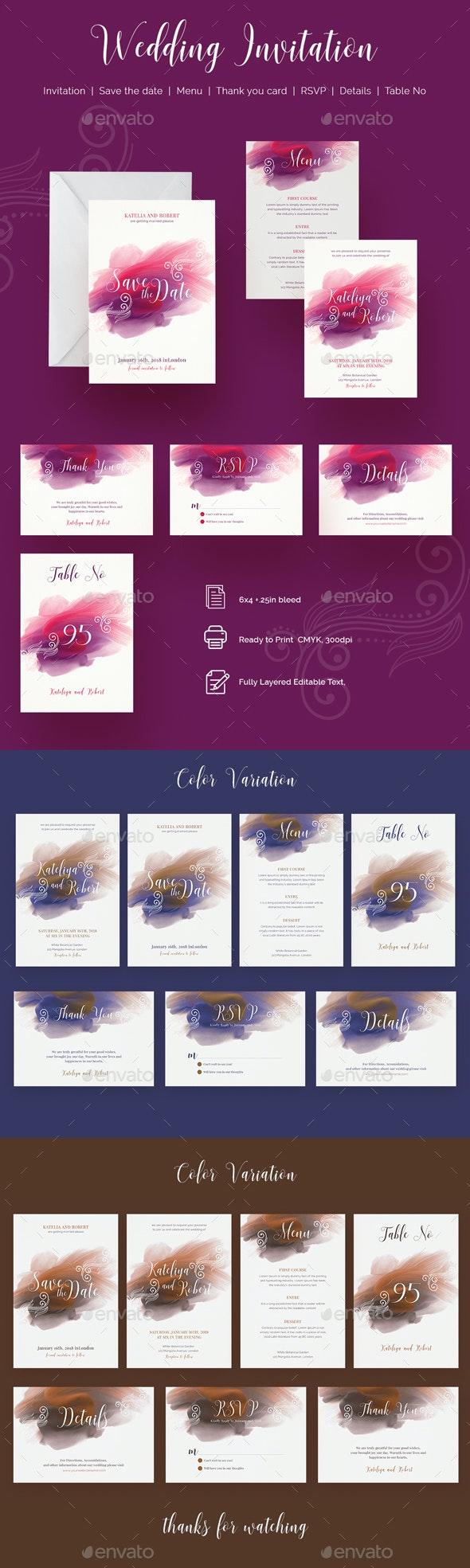 Wedding invitation - Print Templates