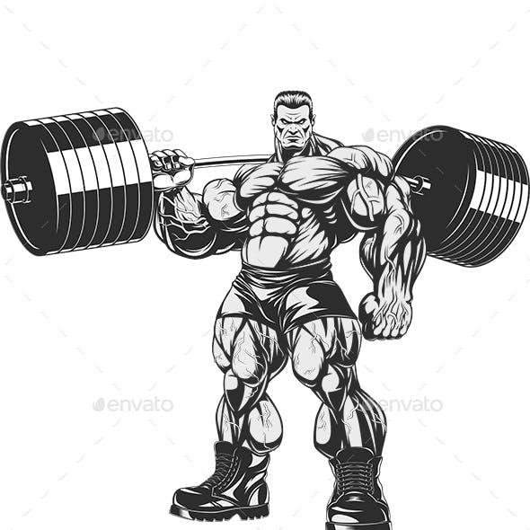 Bodybuilder with Dumbbells