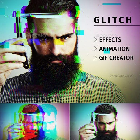 Glitch Effect with GIF Animation