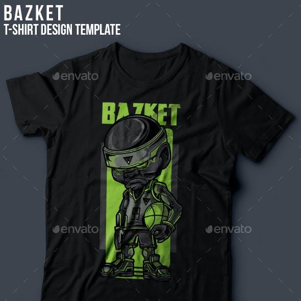 Bazket T-Shirt Design