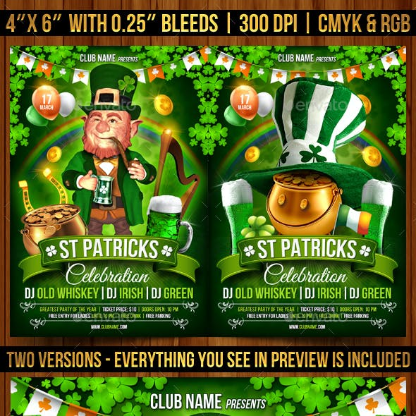 St. Patrick's Day Celebration Flyer Template