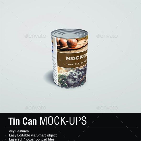 Tin Cans Mock-Ups