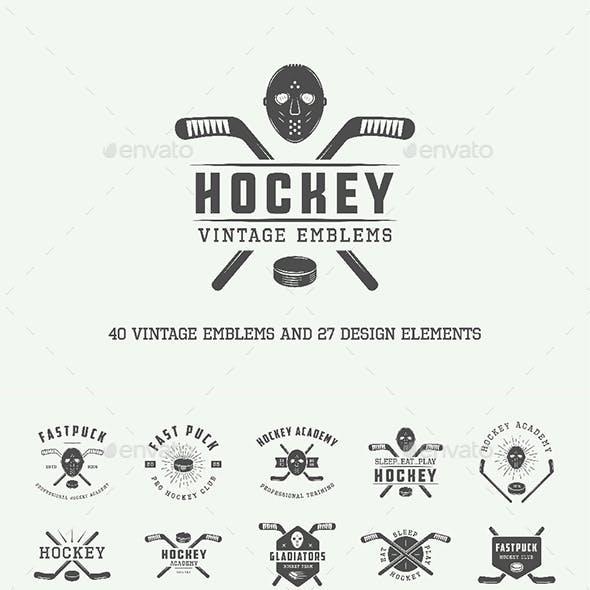 Vintage Hockey Emblems