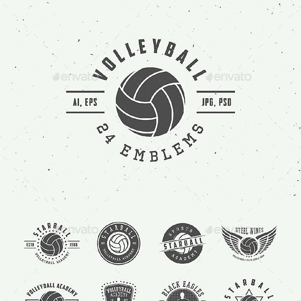 Vintage Volleyball Emblems