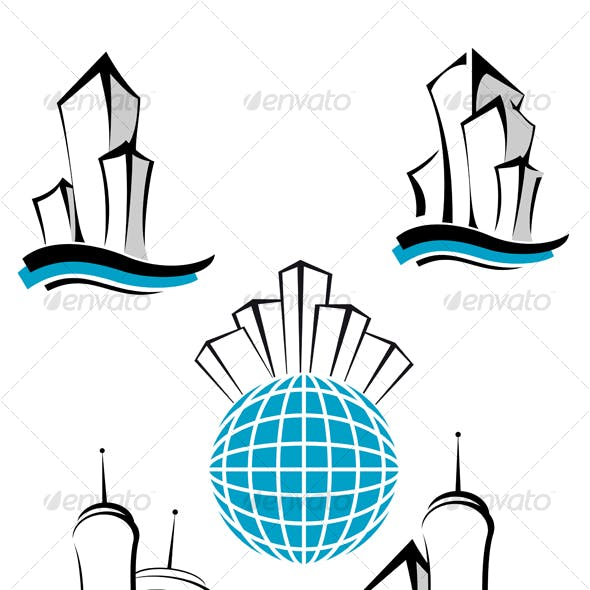 Symbols of modern buildings