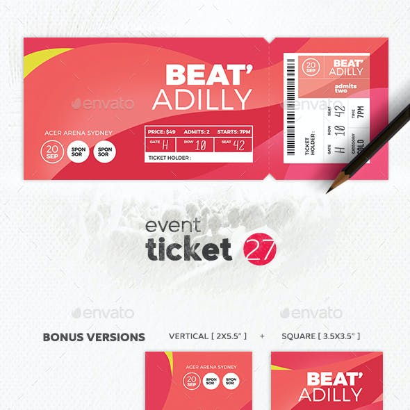 Event Ticket Template 27