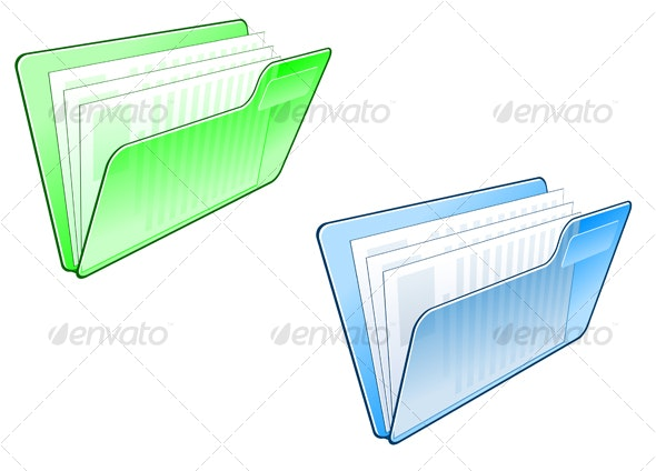 Computer folder symbol - Media Technology