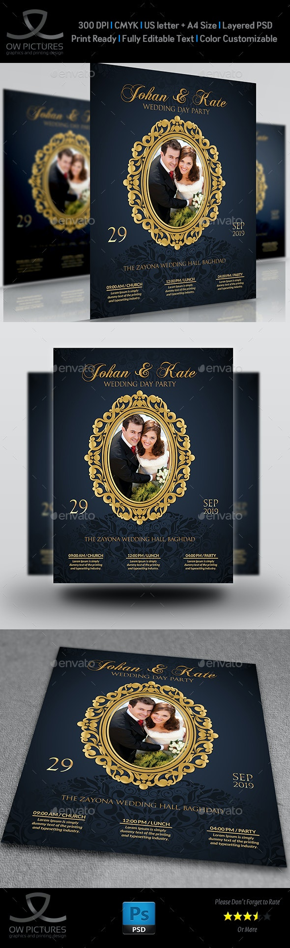 Wedding Party Flyer Template Vol.5 - Events Flyers