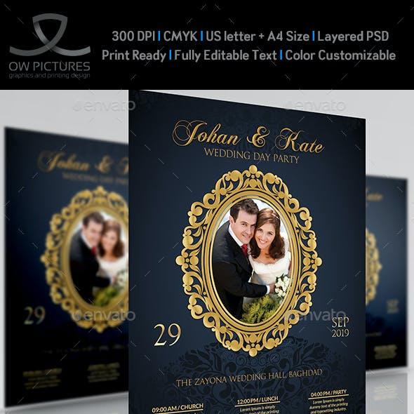 Wedding Party Flyer Template Vol.5