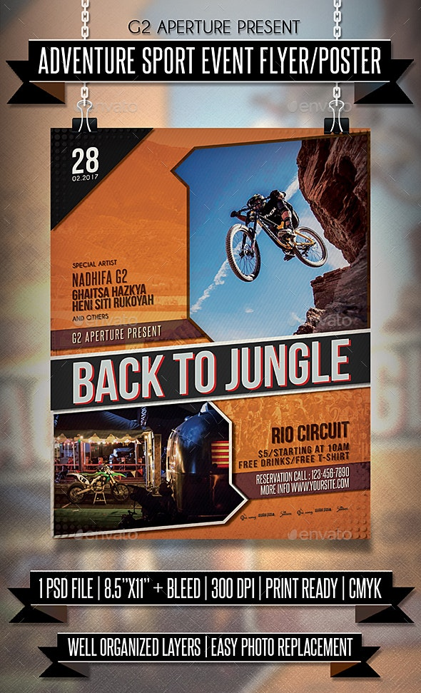 Adventure Sport Event Flyer / Poster - Events Flyers