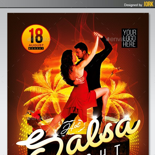 Hot Salsa Night flyer and poster