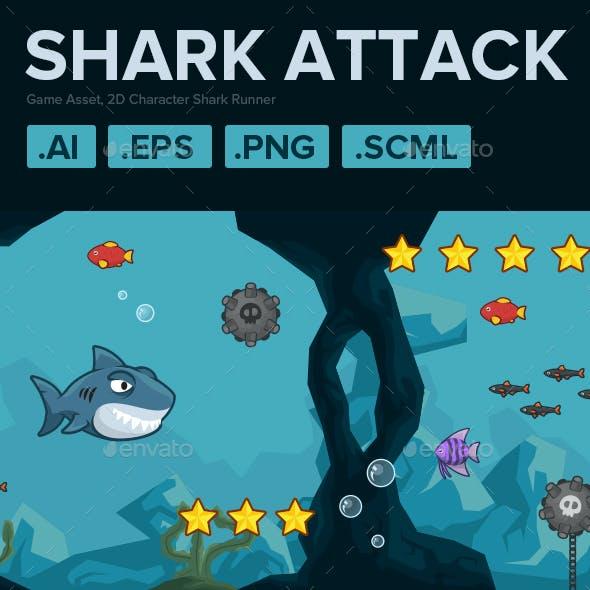 2D Character Shark Runner