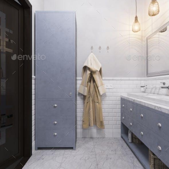 3d Illustration of a Interior Design Bathroom