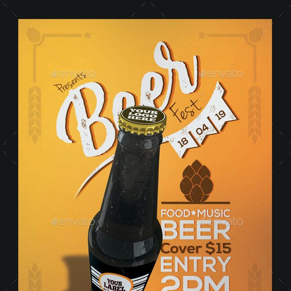Beer Fest Flyer and Poster Template
