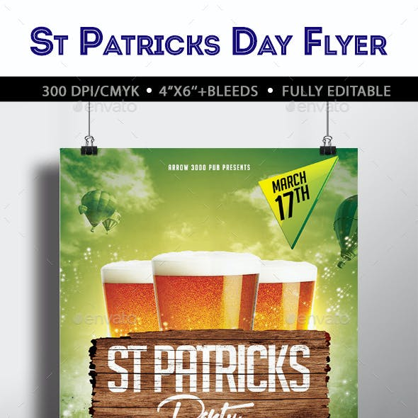 St Patricks Party Flyer