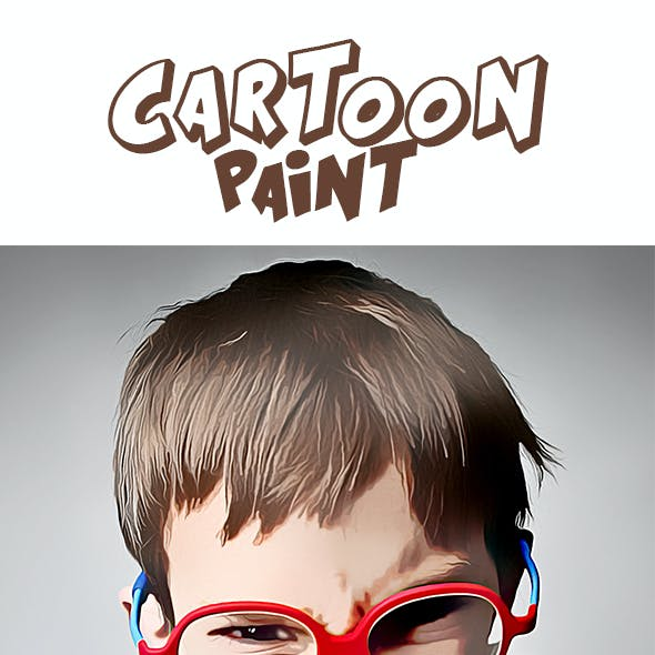 Pro Cartoon Paints Photoshop Action