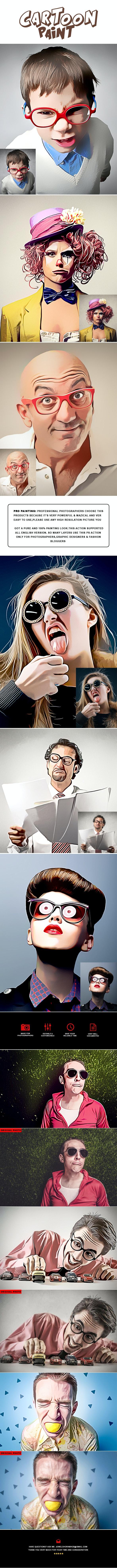 Pro Cartoon Paints Photoshop Action - Photo Effects Actions