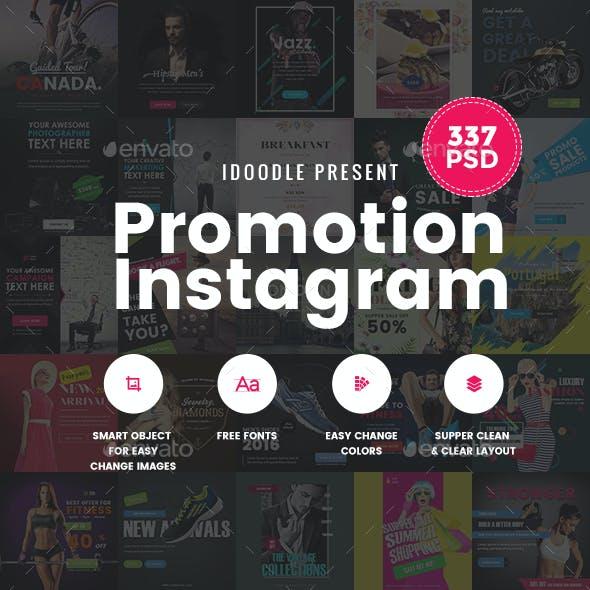 Promotion Instagram Banners Ads Bundle - 337PSD [09 Sets]