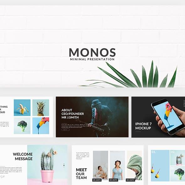 Monos - Minimal Powerpoint Template