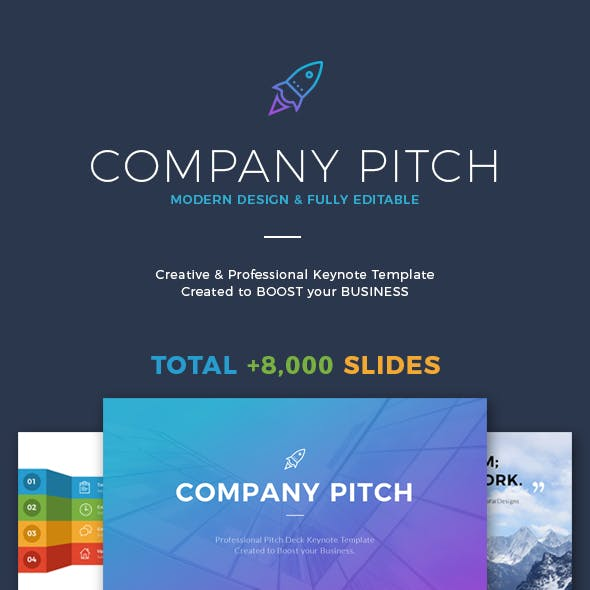 Company Pitch Keynote Template